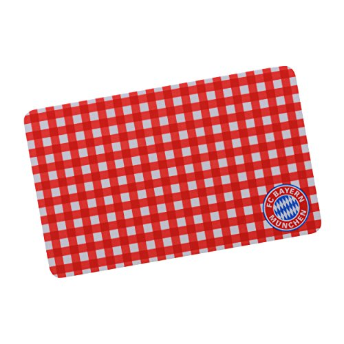 FC Bayern München Brettchen karo Munich kompatibel + Sticker, Breakfast Plate/breadboard/tablero/Frühstücksbrett/Unterleger