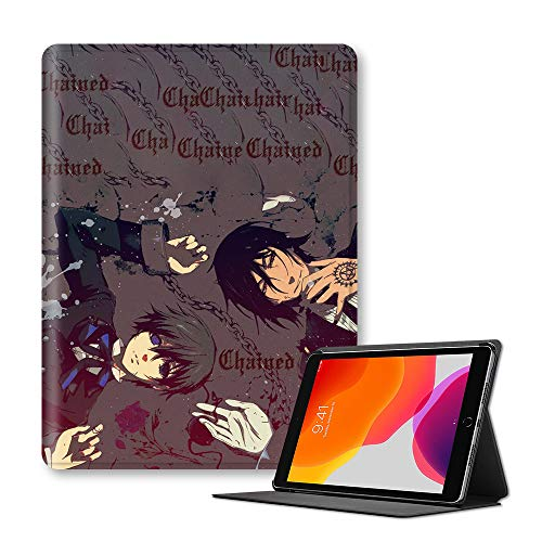 Vbggorgkjo Black Butler Protective Case Classic Printed Comic Stand Cover Anti-fall Fashion Shell for iPad (Color : A11, Size : Ipad 9.7-inch(ModelA1954))