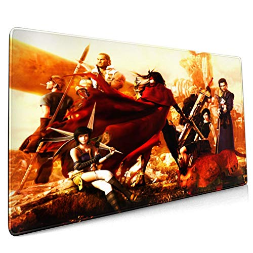 Dekika Dirge of Cerberus-Final Fantasy VII Gaming Mouse Pad 15.8x35.5in,Durable Large Japanese Anime Style Mouse Mat for Notebook Desk Pad