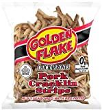 Golden Flake Pork Cracklins W/Red Pepper Seasoning 3.25 oz (Pack 4)