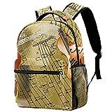 Music Violin Backpack Students Shoulder Bags Travel Bag College School Backpacks