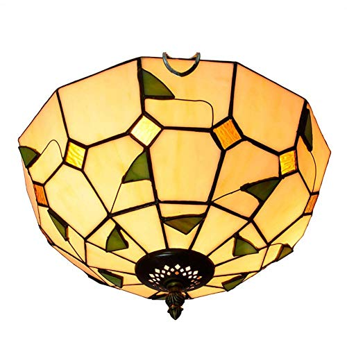 XNCH Tiffany Style Ceiling lamp Mediterranean Stained Glass Chandeliers Aisle Corridor Balcony Porch Bedroom Ceiling Lights 30CM
