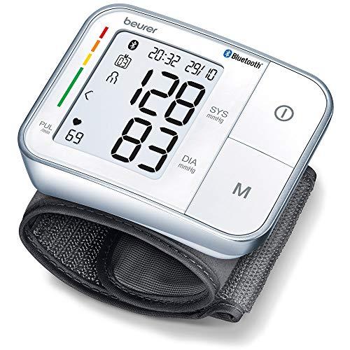 Beurer BC 57 Handgelenk-Blutdruckmessgerät, Medizinprodukt mit App-Anbindung via Bluetooth, zertifizierter Datenschutz