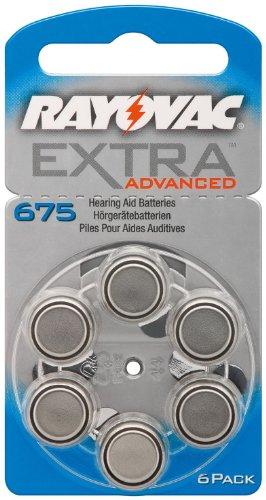 Pilas para audífonos Rayovac tipo 675 Extra Advanced