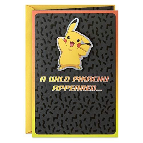 Hallmark Pokémon Birthday Card (Wild Pikachu) (499RZB1387)