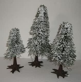 Dept 56 Set of 3 Large Snowy Evergreens