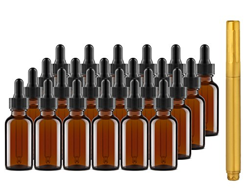 Culinaire Amber Glass Dropper Bottle
