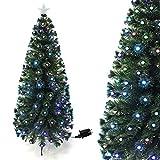 Arcoiris �rbol de Navidad Fibra con Luces LED �rbol de Fibra Óptica de Navidad con el Cambio de Color Luz LED Fibra Óptica (120 CM, Diamente)