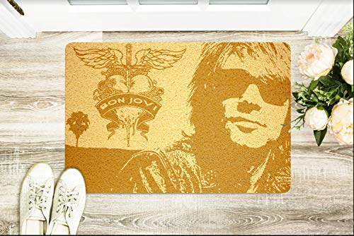 StarlingShop Felpudo Bon Jovi Bon Jovi para Puerta con diseño de Bon Jovi, Ideal para decoración del hogar, Regalo de cumpleaños, Regalo de casa Nueva