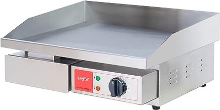 Valgus Grande plaque chauffante électrique antiadhésive commerciale, gril de barbecue à plaque chauffante en acier inoxyda...