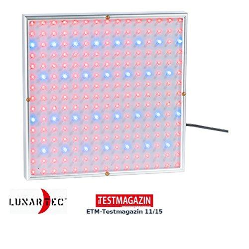 Lunartec Wachstumslampe: Profi LED-Pflanzen-Wachstums-Leuchtpanel mit 225 LEDs, 250 Lumen (Wachstumslampen für Pflanzen)