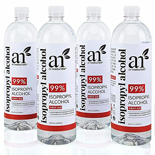 Isopropyl Alcohol 99% Pure - 4 Pack -1 Gallon 33.8OZ - Made in The USA