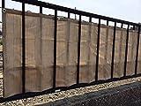 Destyle バルコニー,ベランダ シェード(約180×80cm×2枚組, モカベージュ) 目隠し シート オーニング