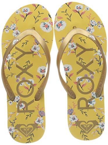 Roxy Tahiti, Zapatos de Playa y Piscina para Mujer, Amarillo (Mustard Mu0), 42 EU