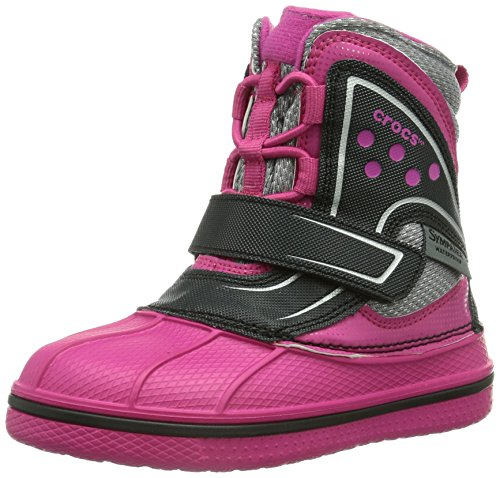 Crocs AllCast Waterproof Boot GS, Unisex-Kinder Warm gefüttert Gummistiefel Kurzschaft Stiefel & Stiefeletten, Pink (Candy Pink/Black 6X1), 25/26 EU