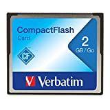 Verbatim 2GB CompactFlash Memory Card, Black, Model Number: 47012