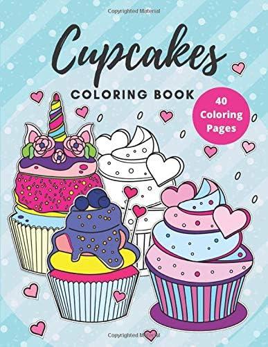 Cupcakes Coloring Book Desserts coloring book for kids Desserts Coloring Books product image