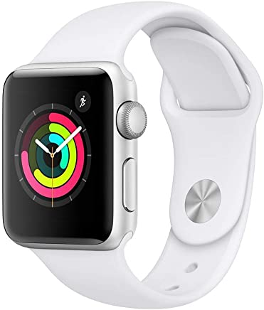Apple Watch Series 3 (GPS, 38mm) - Silver Aluminium Case...
