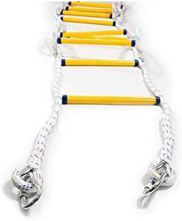 Risareyi Escalera de incendios con los ganchos (2-7 Story) El Cuerpo de Bomberos de la escalada de escape - antideslizante de la Llama de emergencia portátil resistente a la cuerda de seguridad for es