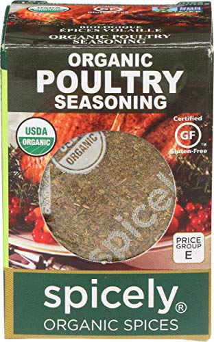 Spicely Organic Seasoning Poultry 0.35 Ounce ecoBox Certified Gluten-Free