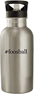 #foosball - Stainless Steel Hashtag 20oz Water Bottle, Silver