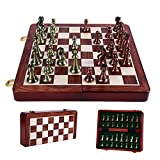Ajedrez King Altura 67mm Kirsite International Chess Set de ajedrez Plegable de Wowoen Juego de ajedrez para niños para niños para Juguetes de Regalo I8 Ajedrez Internacional (Color : 30x30x3cm)