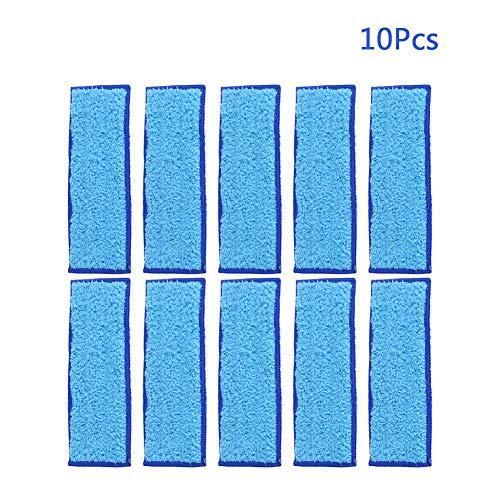185 x 70mm 10 Stück Weiche Mikrofaser Wischpads Waschbar und Wiederverwendbare Mop Tuch für iRobot Braava Jet 240/241(Blau)