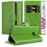 Cadorabo Book Case works with HTC One M10 in GRASS GREEN -
