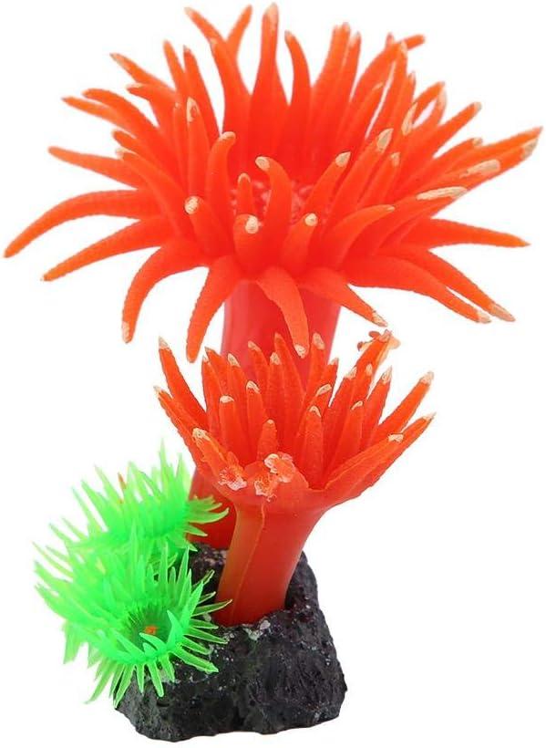 White Artificial Coral Plant D/écor Ornament Simulation Coral Aquatic Plants Artificial Silicone Coral,for Fish Tank Aquarium Ornaments Plastic Landscape Decoration