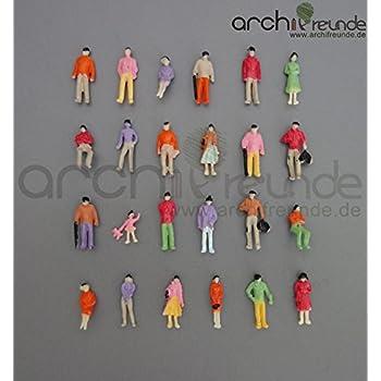 80 Silhouettenfiguren weiß 1:200 stehend und gehend 0,07€//Stück