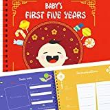 Chinese Baby's First Five Years Hardcover Memory Book - Newborn Babies 1st Year Journal and Milestones Photo Album - Perfect and Unique Gift Idea for Baby Showers and Birthday Presents