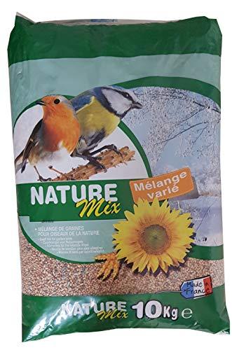 Aimé Nourriture pour Oiseaux, Nature Mix 10 Kg pour Oiseaux du Ciel et Animaux Sauvages, Mélange Varié