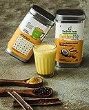The Divine Foods Organic Golden Milk Latte | 56 Sachets | (250 gm) | Natural Detox Drink DND | Haldi Milk | Antioxidant & Anti-Inflammatory High Curcumin