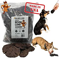 🐑UNRIVALED NATURAL QUALITY - Treat your canine companion as good as you treat yourself with these 100% All-Natural Bison Lung Fillets! Smoked the way your pup likes them with ZERO grains, fillers or chemicals added. High in protein and low in fat. 🐶I...