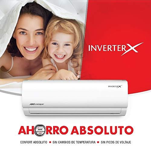 Aire Acondicionado Mirage Inverter X. Frio/calor 1 Ton, 220V, 12,000BTU. SEER16 AHORRADOR