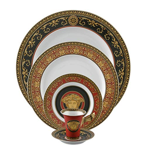 Versace by Rosenthal Medusa Red 5-Piece Place Setting, Service for 1