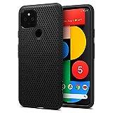 Spigen Liquid Air Kompatibel mit Google Pixel 5 Hülle, Stylisch Muster Silikon Handyhülle Schutzhülle Capsule Hülle Schwarz ACS01896