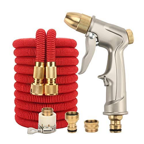 Ampliable manguera de jardín Telescópica del tubo de agua de alta presión de lavado de coches pistola de agua de múltiples funciones fijado herramientas de jardinería de riego fácil almacenamiento