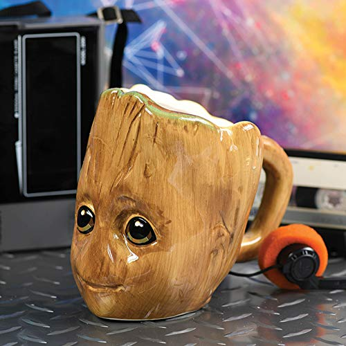 Guardians of the Galaxy 3D Tasse Baby Groot braun, bedruckt, 100 % Keramik, Fassungsvermögen ca. 454 ml.
