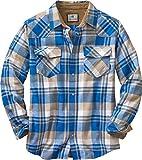 Legendary Whitetails Men's Standard Shotgun Western Flannel Shirt, Liberty Range Plaid, X-Large