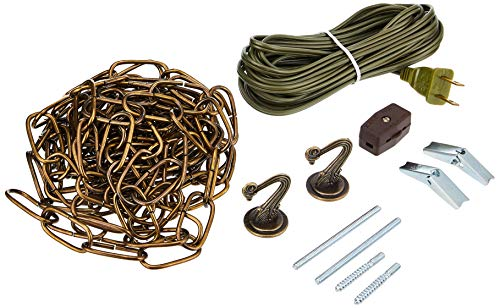Westinghouse Lighting 7047100 15-Foot Swag Kit, Antique Brass