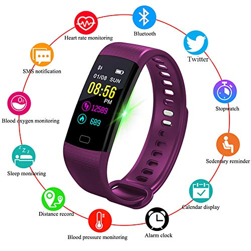 LIGE Fitnesstracker, kleurendisplay, smart armband, hartslagmeter, bluetooth, oproepherinnering, smartwatch, activiteitentracker, outdoor sporten, stappenteller, band, slaapbewaking voor Android en iOS telefoon