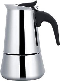 Bärbar rostfritt stål kaffekanna moka espressomaskin mockakanna perfekt för hemcamping och resor (200 ml)