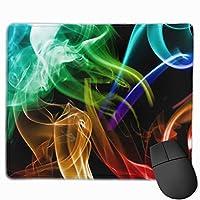 カラフルな煙の喫煙 マウスパッド ゲーミングマウスパッド ラップトップマット pcマウスパッド リストレスト ラバーマット 滑り止め 耐久性 高級感 25*30