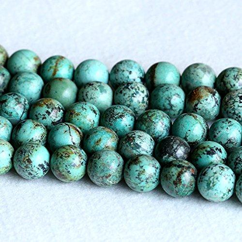 1 hebras naturales azul verde África turquesa semipreciosa piedra redonda grandes cuentas 14 mm 05234