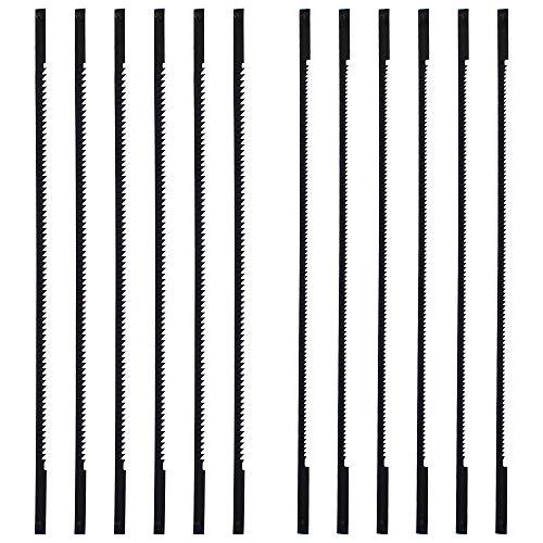 NewZC 12 Pcs Lame da Traforo Lame Per Seghe a Telaio Lame Traforo Elettrico per Legno Metallo Plastica -18/25 denti