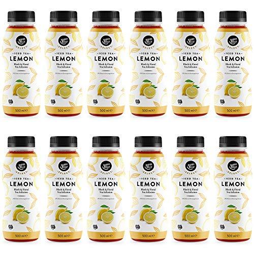 Marca Amazon - Happy Belly Select Té helado de limón, 12x500ml