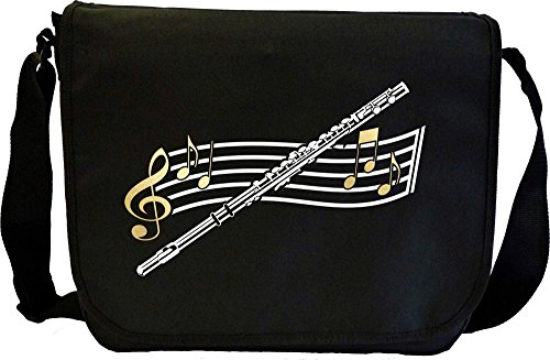 Flute Curved Stave - Sheet Music Document Bag Musik Notentasche MusicaliTee