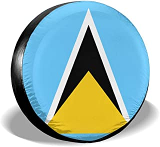Flag of St Lucia Classic Accessories Universal Fit Spare Wheel Tire Cover