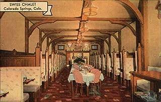 Swiss Chalet Restaurant Colorado Springs, Colorado Original Vintage Postcard